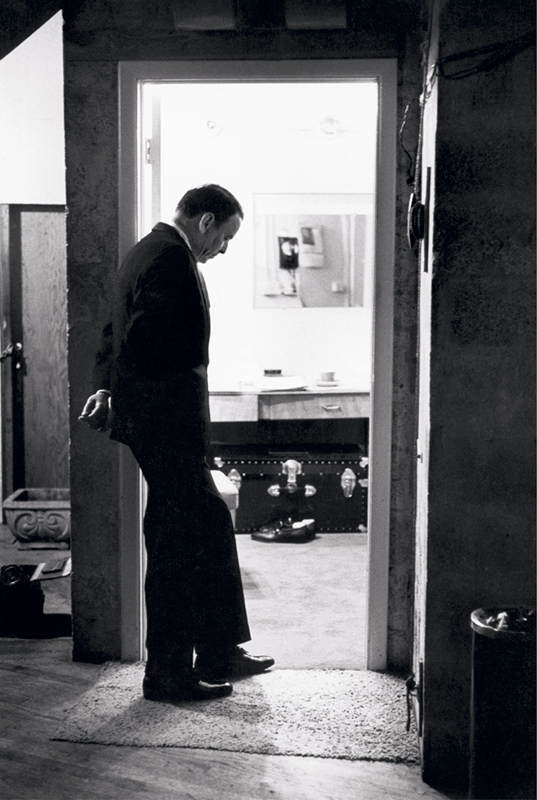 Frank Sinatra Reflecting Before a Performance, London, 1989