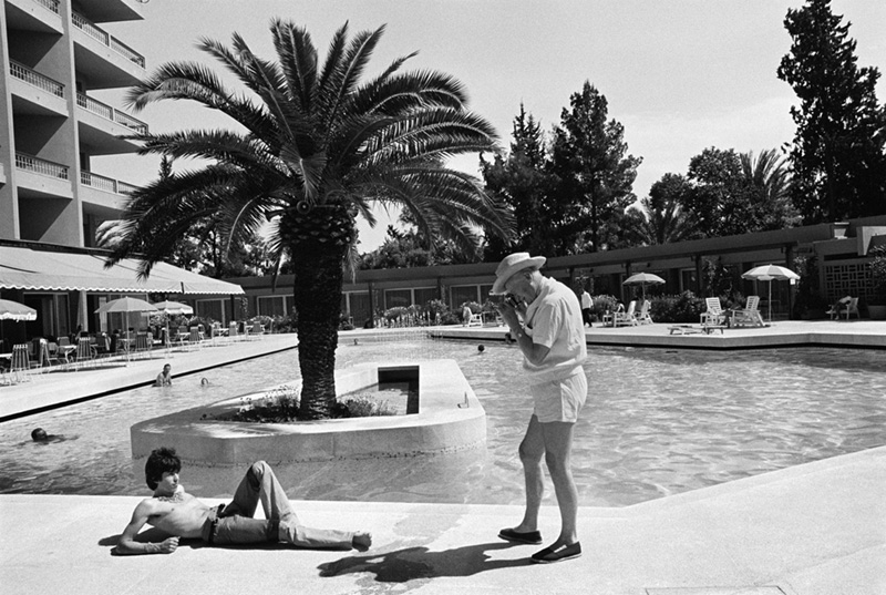 Keith Richards Posing Poolside for Cecil Beaton, Hotel Mamounia, Tangiers, Morocco, 1967