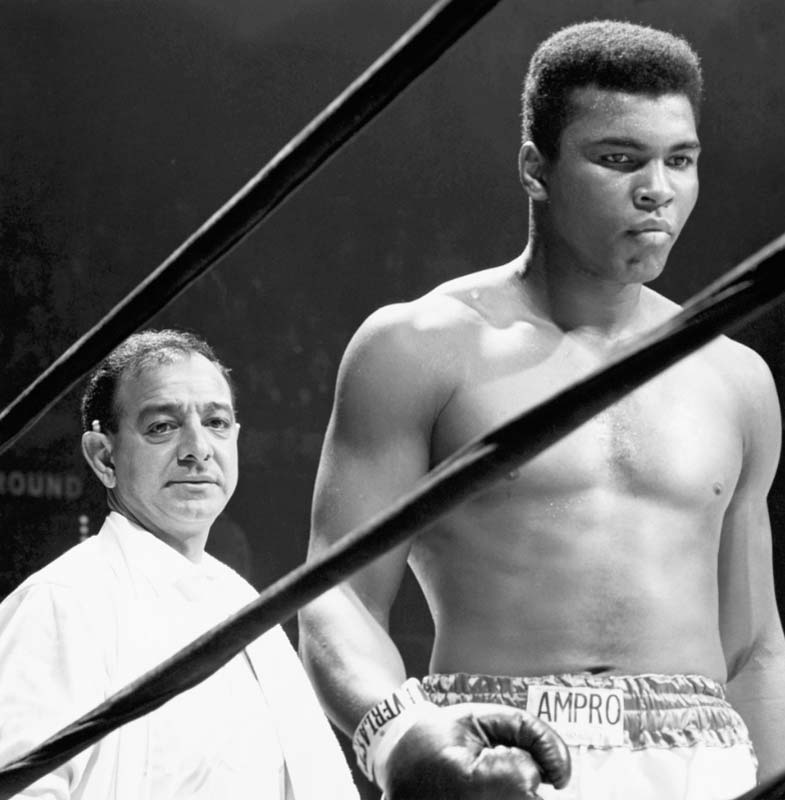 Ali with Trainer Angelo Dundee, Madison Square Garden, NY 1967