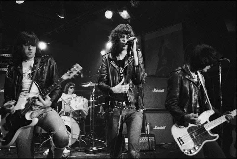 The Ramones performing at CBGB, NYC, 1977