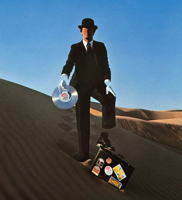 Pink Floyd, Wish You Were Here Desert Man in Bowler (right-hand), Back Cover, 1975
