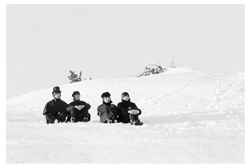 The Beatles in Snow, Austria, 1965 (Ref.#B23)