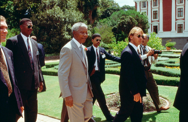Nelson Mandela Walking to Parliament, Cape Town, 1996