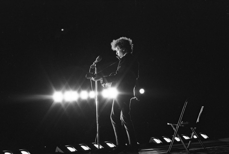 Bob Dylan Onstage, Forest Hills, Queens, NY, 1965