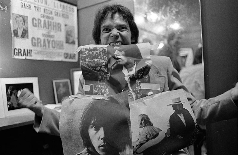 Neil Young Backstage at The Boarding House, San Francisco, 1978