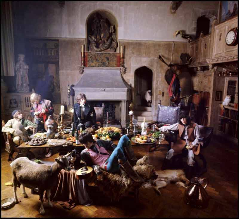 The Rolling Stones - The End of the Banquet, Beggars Banquet Album Cover Shoot, London, 1968