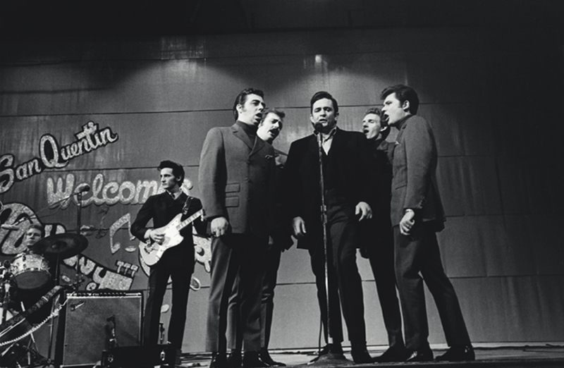 Johnny Cash & The Statler Brothers Onstage, San Quentin 1969
