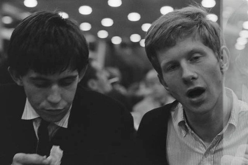 Keith Richards and Andrew Loog Oldham, Eating, 1963