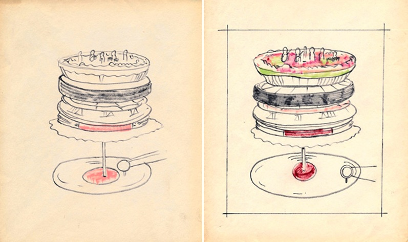 The Rolling Stones Let It Bleed Album Cover Original Sketches, 1969