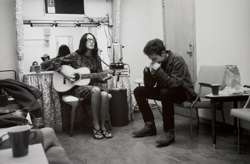 Bob Dylan Backstage with Joan Baez, NYC, 1964