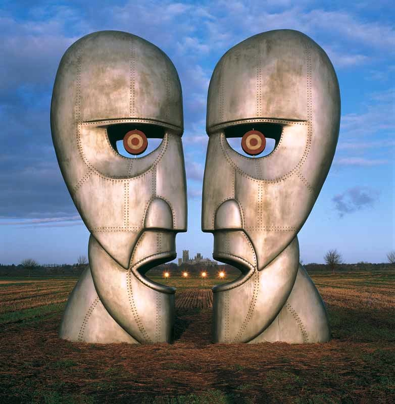 Pink Floyd, The Division Bell - Metal Heads (Lights) Album Cover, 1994