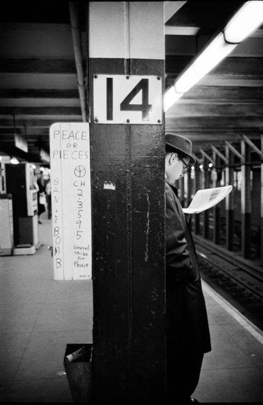 Peace Or Pieces, 14th St. Station, New York Subway, New York, 1962