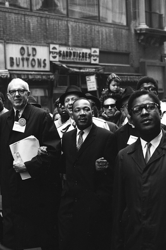 Martin Luther King Jr. in an Anti-War March, NYC, 1967