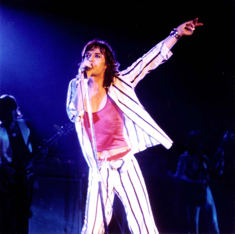 Mick Jagger Onstage at the Cow Palace, San Francisco 1975