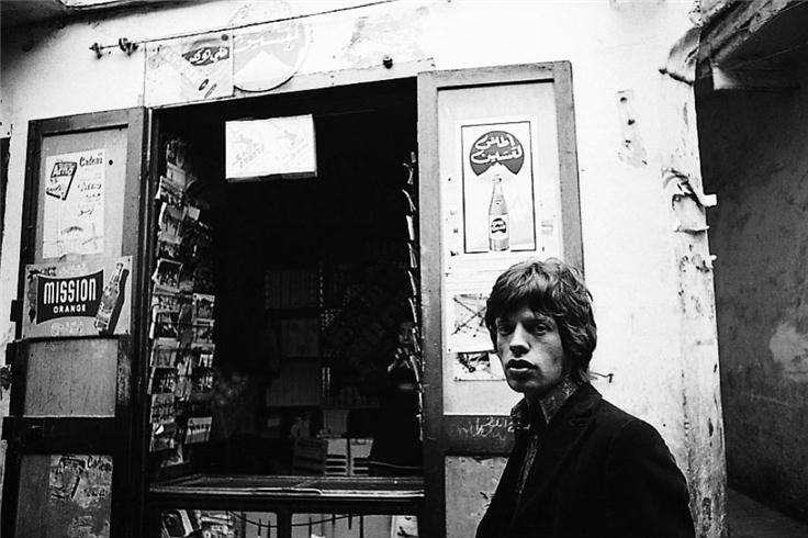 Mick Jagger Outside Tangiers Shop, Morocco, 1967