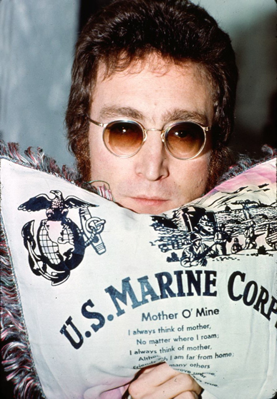 John Lennon, US Marine Pillow, Los Angeles, 1973
