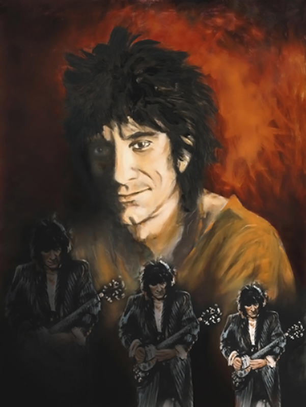 Ronnie Wood, Triple Self-Portrait, 2002