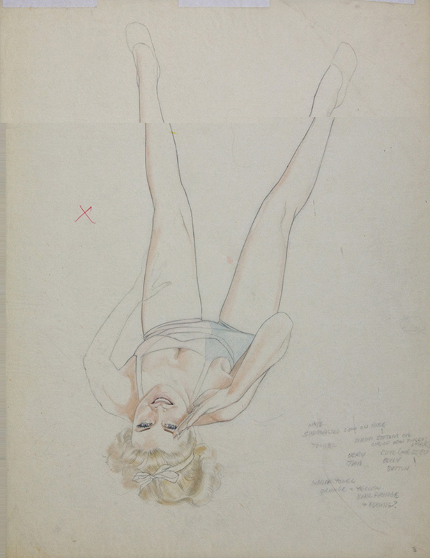 Study of a Reclining Young Woman, 1970