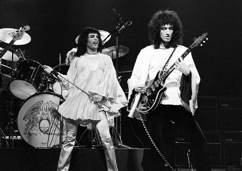 Freddie Mercury & Brian May, Rainbow Theatre, 1974