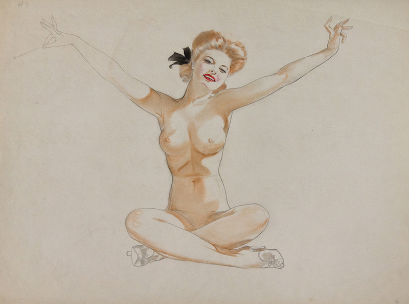 Study of a Seated Nude Redhead, 1944