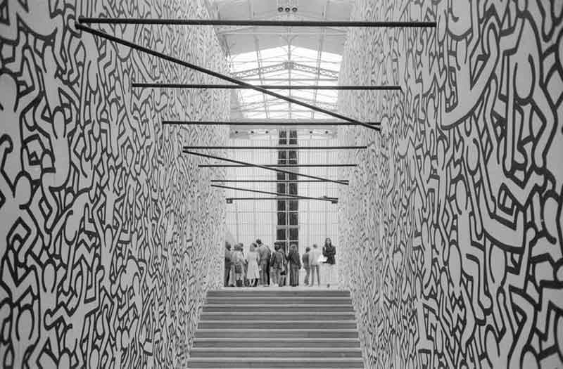 Keith Haring Installation, Paris Biennale, France, 1985