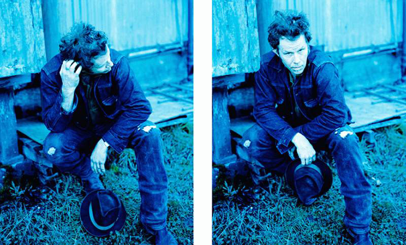 Tom Waits Portraits in Blue Diptych, Prairie Sun Recording Studio, CA, 1999