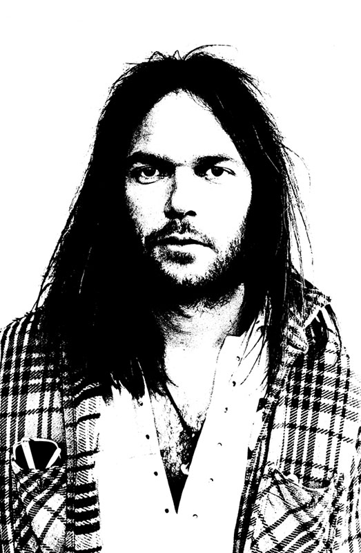 Neil Young Portrait, Hollywood, 1973