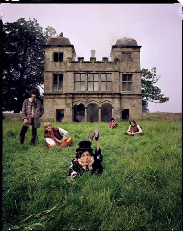 The Rolling Stones - Smoky Stones in Grass, Derbyshire, 1968