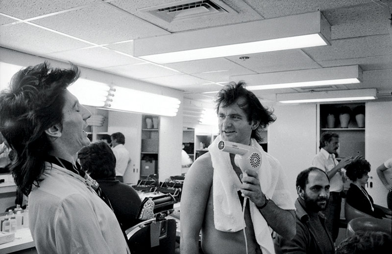 Ronnie Wood & Bill Murray Backstage at SNL, NYC, 1978