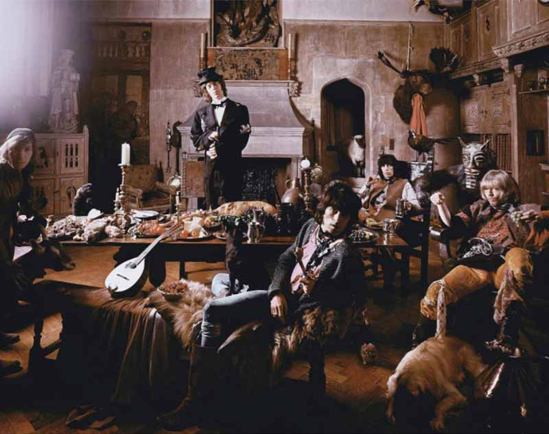 The Rolling Stones - Looking into Camera, Beggars Banquet Album Cover Shoot, London, 1968