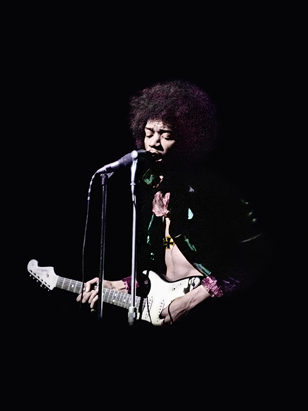 Jimi Hendrix Wearing Iron Cross, Saville Theatre, London, 1967
