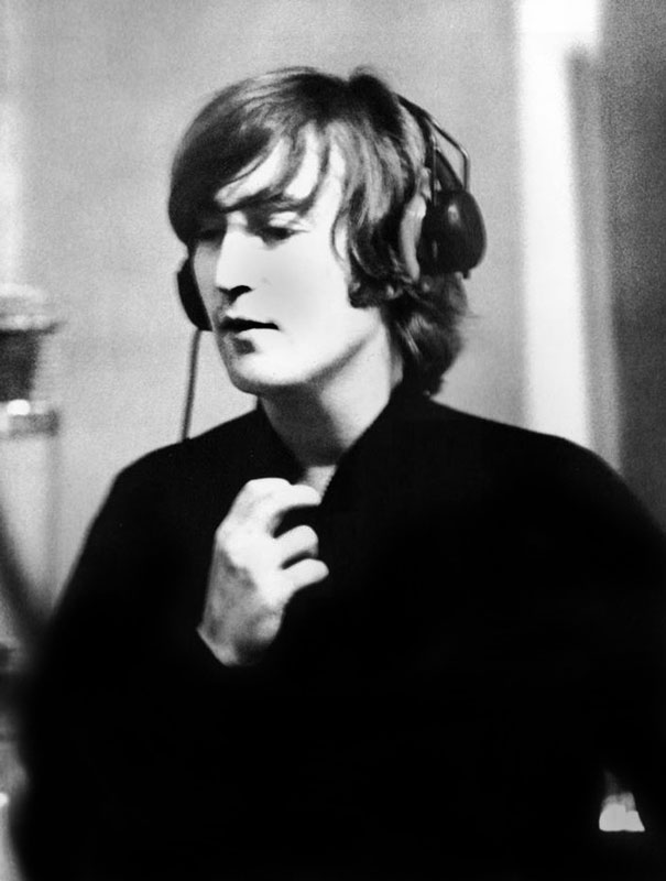 John Lennon, Headphones, Making Revolver, Abbey Road Studios, 1966