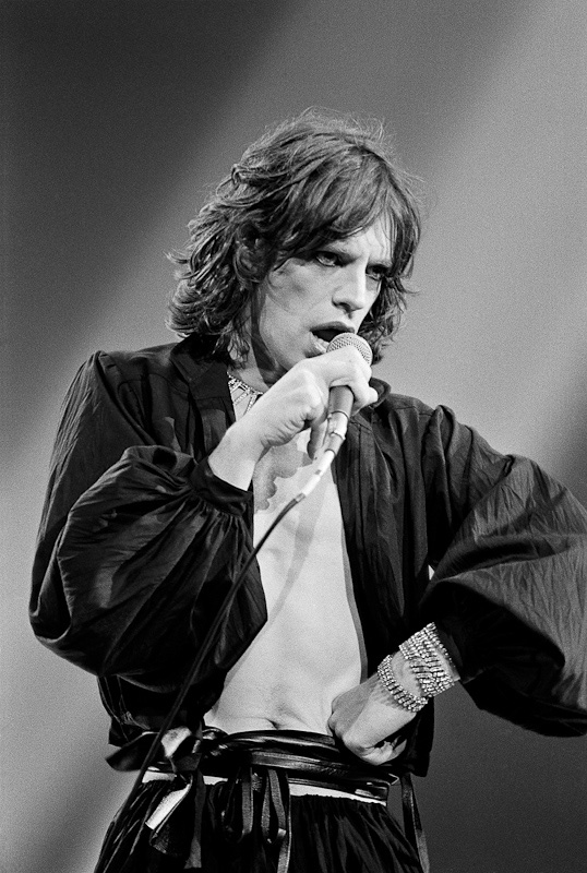 Mick Jagger, Performing, Hand on Hip, 1975