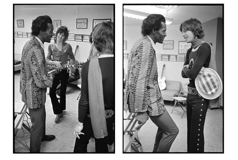 Chuck Berry with Mick Jagger & Keith Richards Diptych, 1969 US Tour