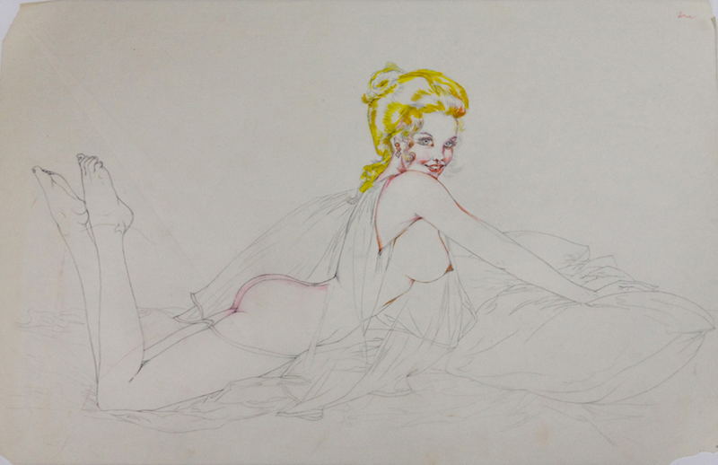 Study of a Reclining Nude Blonde, 1972