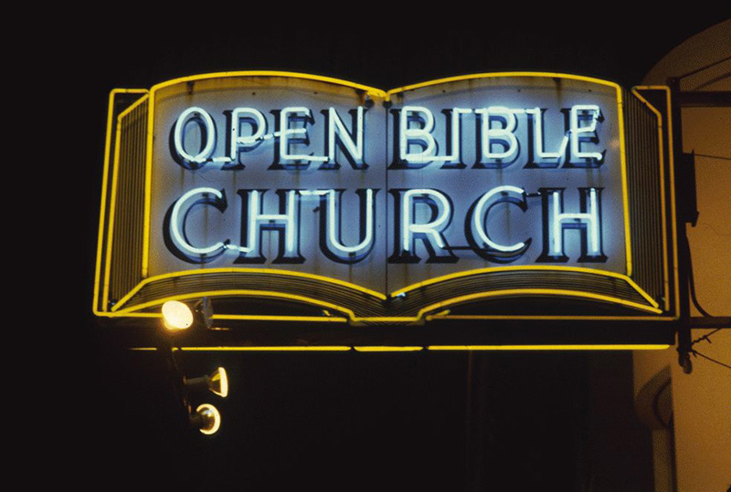San Francisco Neon Series, Open Bible Church, 1980