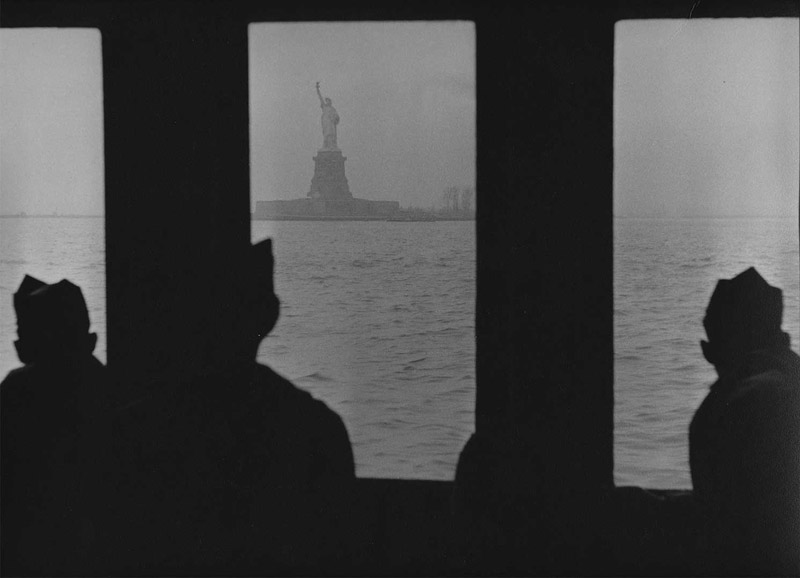Every Man's Woman - The Statue of Liberty & Servicemen, December, 1953
