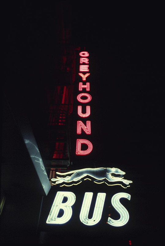 San Francisco Neon Series, Greyhound Bus Terminal, 1980