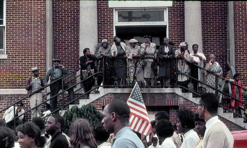Alabama Freedom March, Crowd on Stairs, 1965