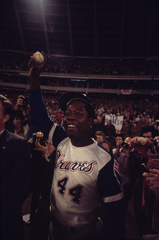 Hank Aaron, Home Run Champ, Atlanta, 1974