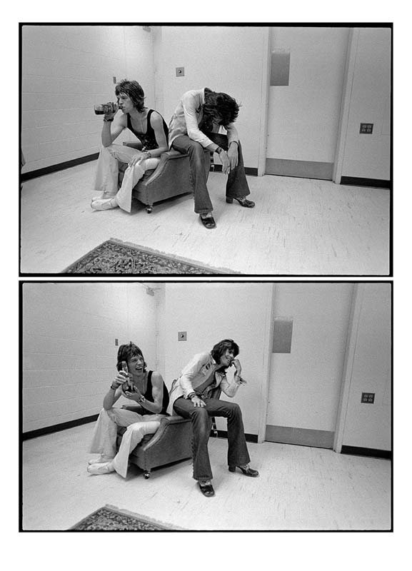 "Mick Jagger & Keith Richards ""Drink & Laugh"" Diptych, 1972"