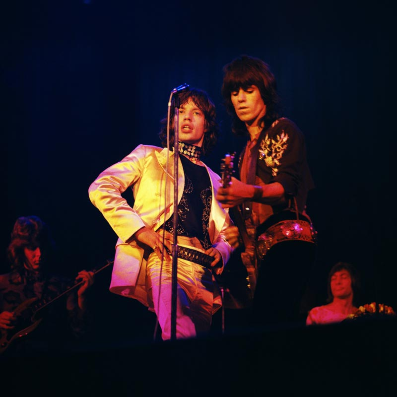 Mick Jagger & Keith Richards Onstage - The Glimmer Twins, Copenhagen, 1970