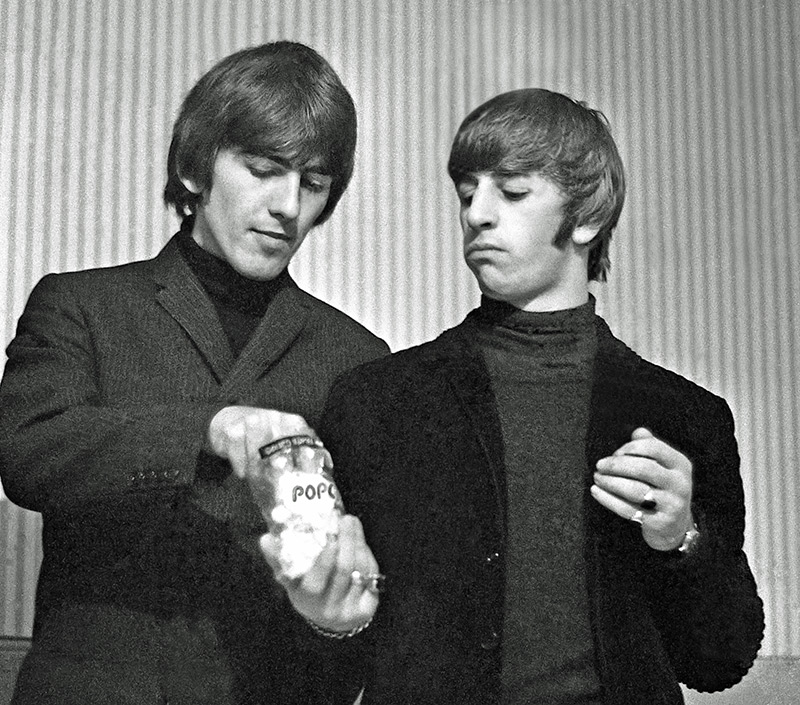 George Harrison and Ringo Starr, Pop Stars, Odeon, Leeds, 1964