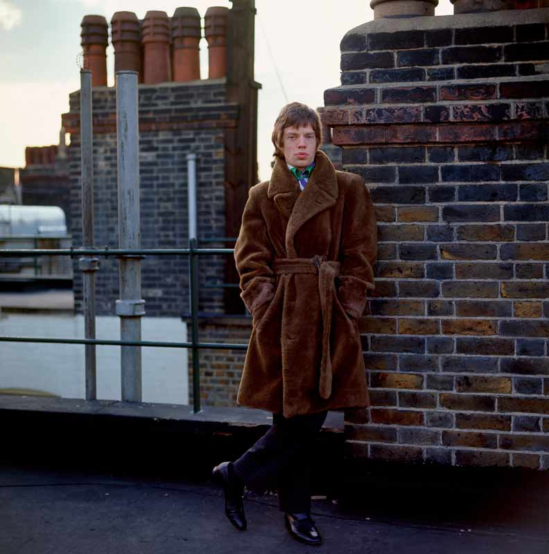 Mick Jagger on the Roof, at Home, London, 1966
