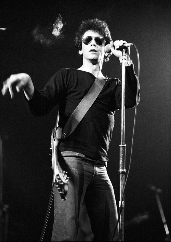 Lou Reed Performing at the Victoria Palace Theatre, London, 1983