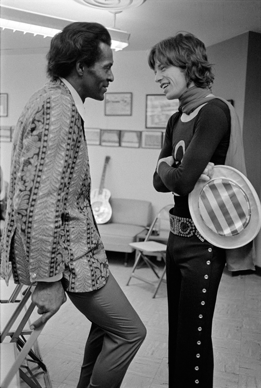 Chuck Berry & Mick Jagger Backstage, 1969