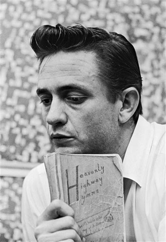 Johnny Cash with Mothers Hymn Book, Columbia Studios, Los Angeles, CA, 1961