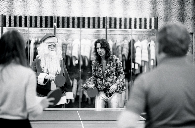 Alice Cooper Playing Ping-Pong, NYC, 1972