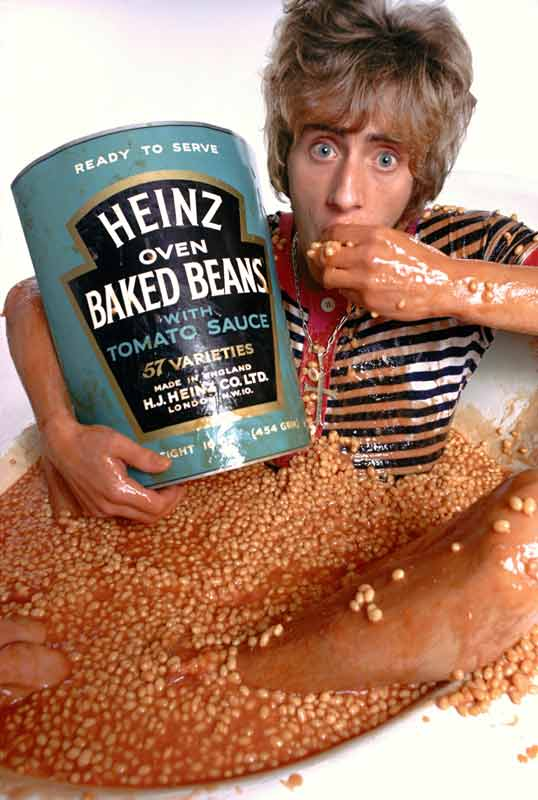 Roger Daltrey - The Who Sell Out Album Cover Shoot ( Baked Beans), London, 1967