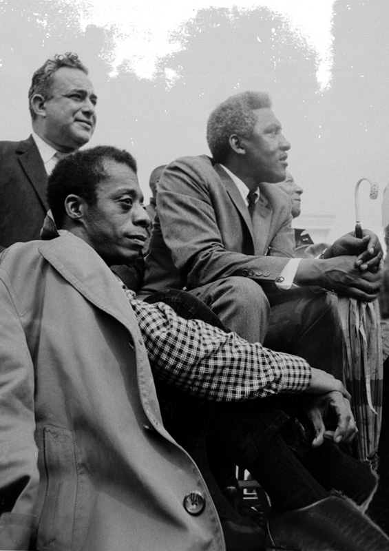 James Baldwin, Walter Reuther & Bayard Rustin, Montgomery, 1965